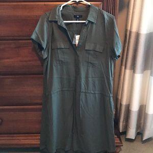 NEW- GAP Army Green Dress